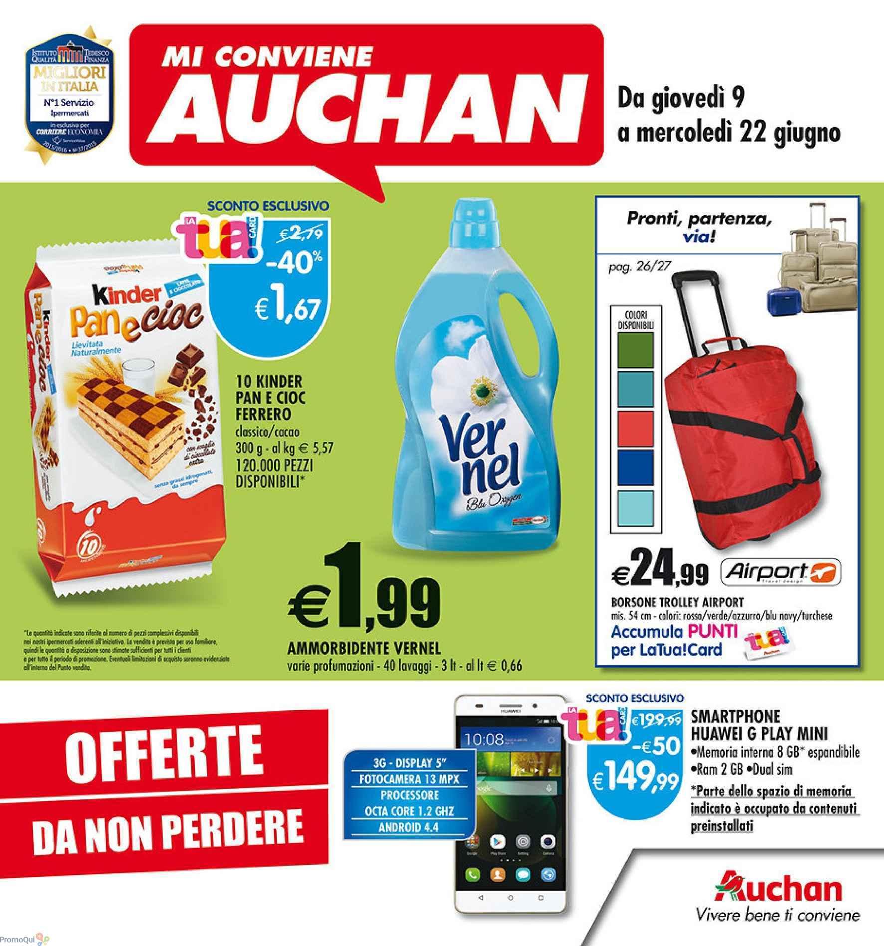 Volantino auchan offerte da non perdere dal 9 al 22 - Auchan porta di roma offerte ...