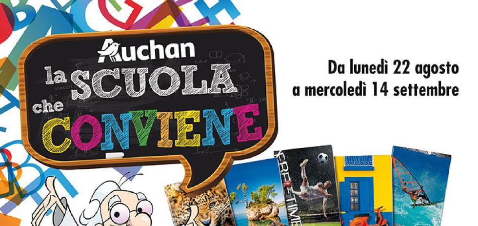 Volantino auchan la scuola che conviene dal 22 agosto al for Auchan arredamento
