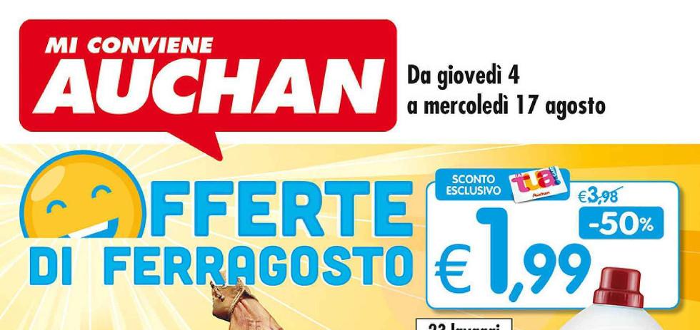 Volantino auchan offerte di ferragosto dal 4 al 17 - Auchan porta di roma offerte ...