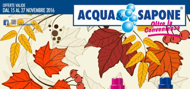 Volantino acqua sapone dal 15 al 27 novembre 2016 campania for Volantino acqua e sapone novembre 2017