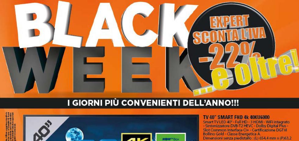 Volantino expert di lella black week dal 25 al 30 for Volantino di lella expert