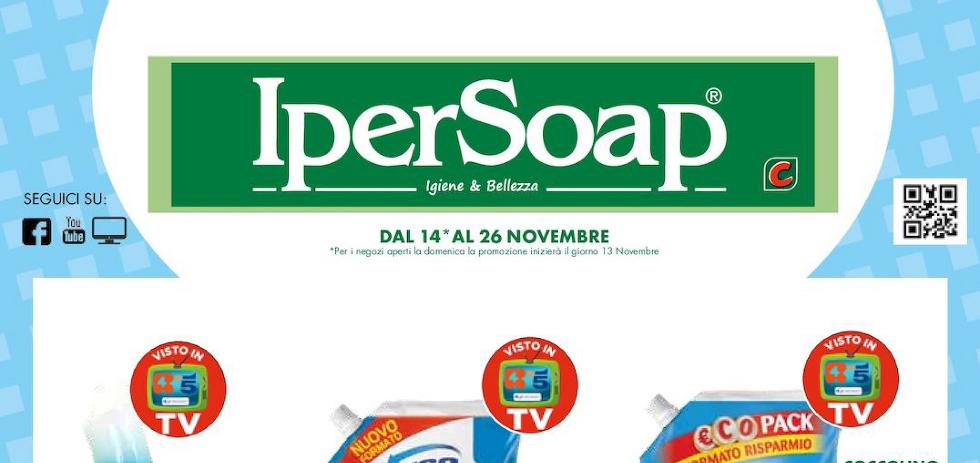 Volantino ipersoap dal 14 al 26 novembre 2016 sbircia prezzo for Nuovo volantino acqua e sapone sicilia