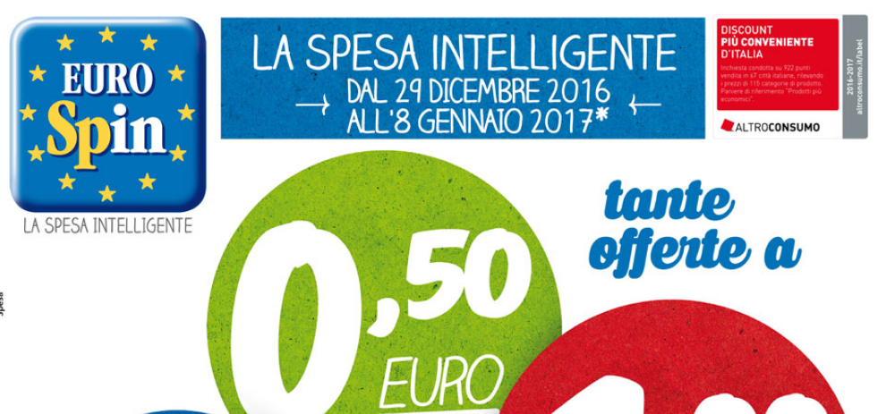 Volantino eurospin tante offerte a dal 29 dicembre all 39 8 for Offerte eurospin