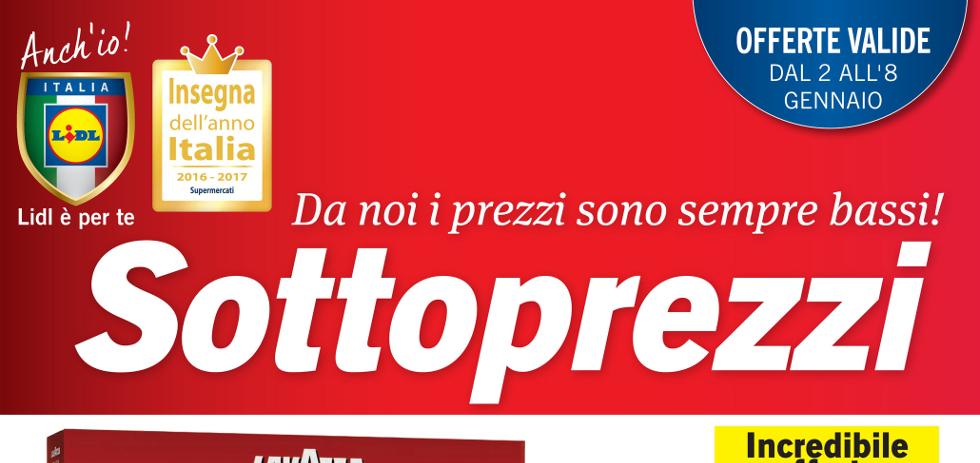 Volantino lidl sottoprezzi dal 2 all 39 8 gennaio 2017 for Volantino iper conveniente