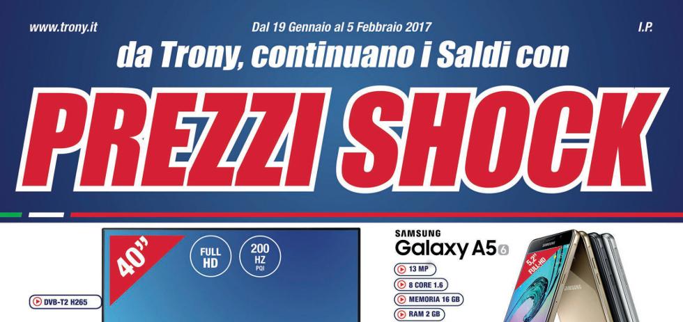 Volantino papino trony prezzi shock dal 19 gennaio al 5 for Volantino iper conveniente