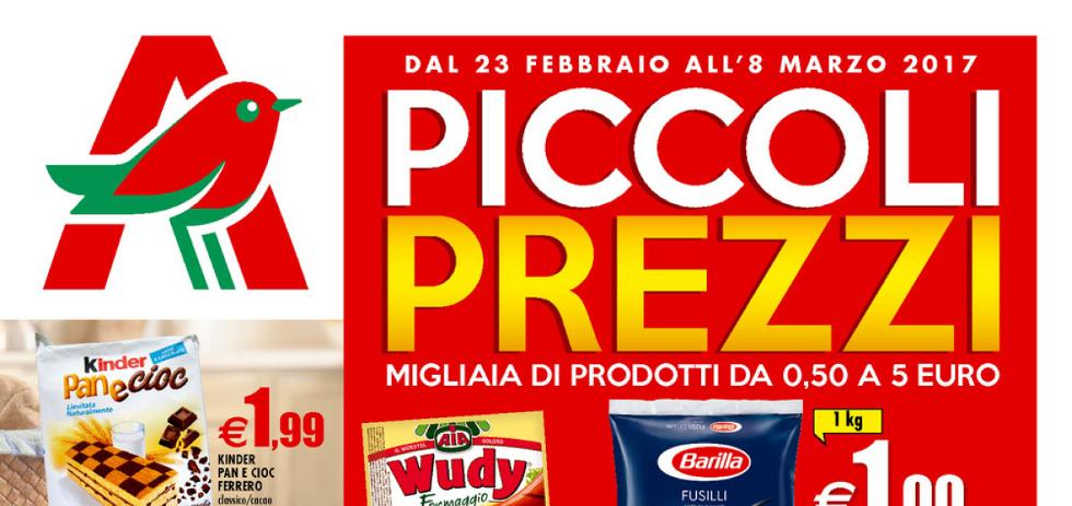 Volantino auchan piccoli prezzi dal 23 febbraio all 39 8 for Piccoli acquari prezzi