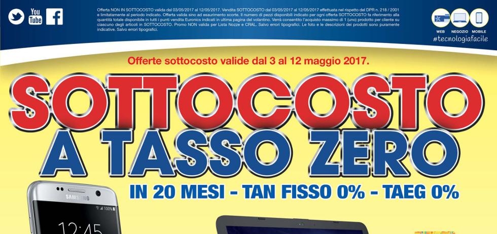 Volantino euronics tufano sottocosto a tasso zero dal 3 for Mediaworld lavatrici slim
