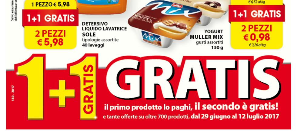 Volantino superd iperd 1 1 gratis dal 29 giugno al 12 for Arredo giardino carrefour 2017