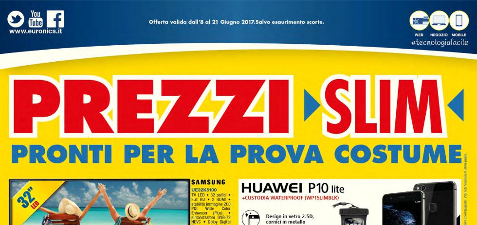 Volantino euronics bruno prezzi slim dall 39 8 al 21 giugno for Mediaworld lavatrici slim