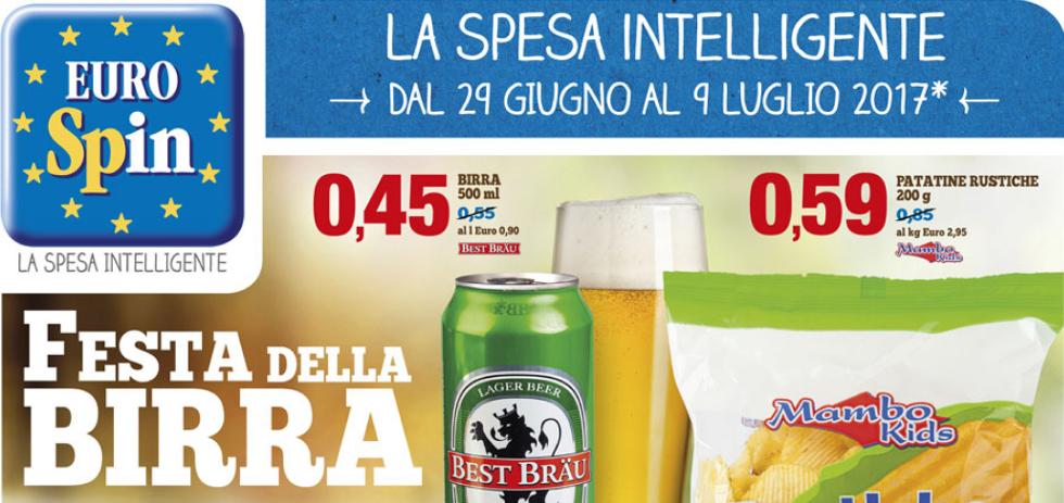 Volantino eurospin festa della birra dal 29 giugno al 9 for Offerte eurospin