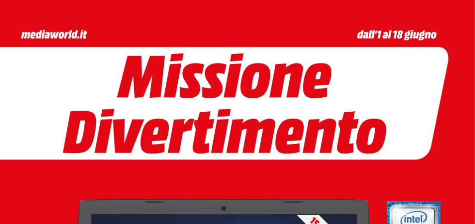 Volantino mediaworld missione divertimento dall 39 1 al 18 for Mediaworld lavatrici slim
