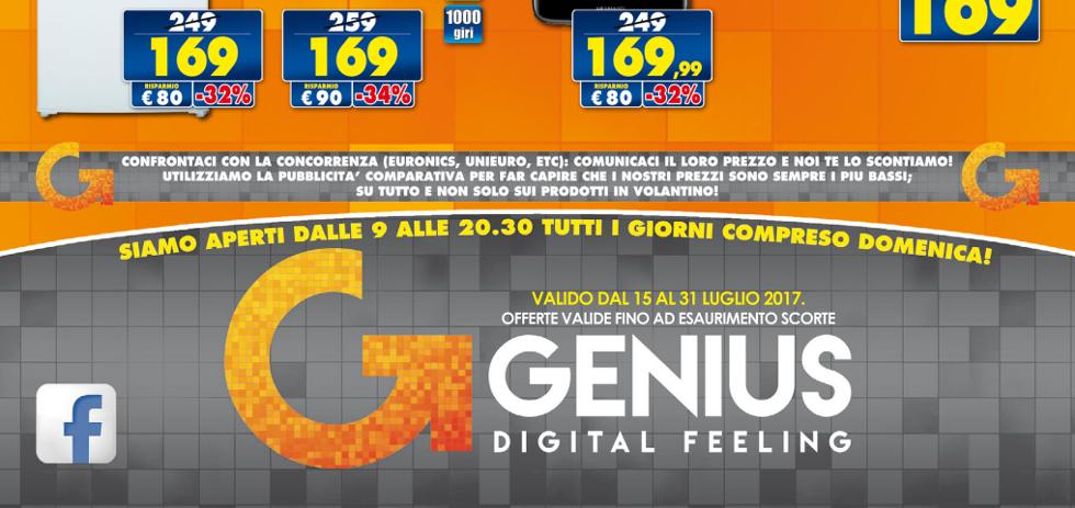 Volantino genius prezzi low cost dal 15 al 31 luglio - Mediaworld lavatrici prezzi ...