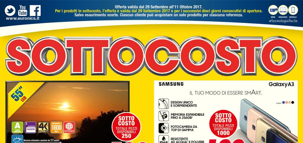 Volantino euronics bruno sottocosto dal 29 settembre all for Volantino iper conveniente
