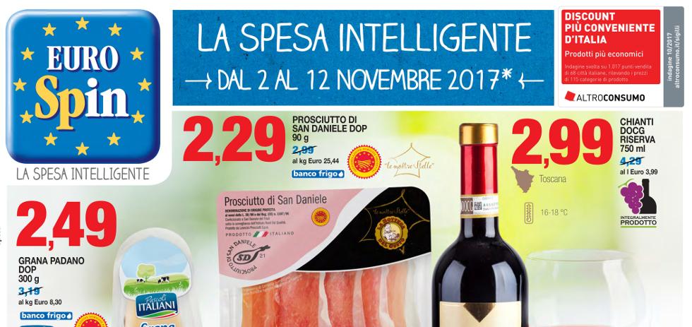 Volantino eurospin la spesa intelligente dal 2 al 12 for Volantino acqua e sapone novembre 2017