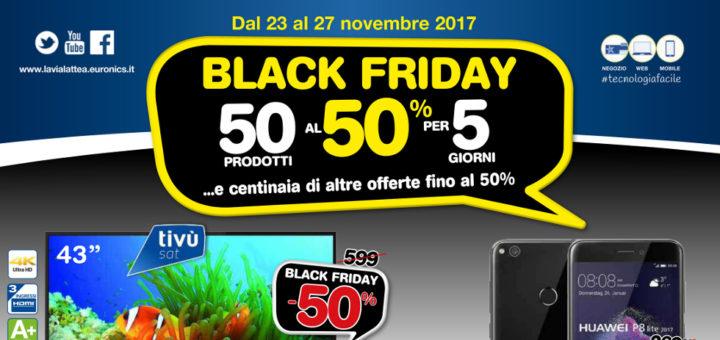 Volantino Euronics La Via Lattea Black Friday 50 Prodotti