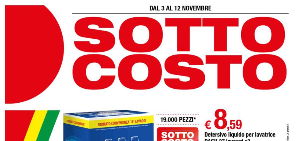 Volantino iper sotto costo dal 3 al 12 novembre 2017 for Volantino acqua e sapone novembre 2017