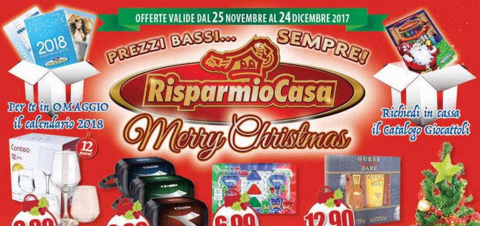 Volantino risparmio casa merry christmas dal 25 novembre for Volantino acqua e sapone novembre 2017