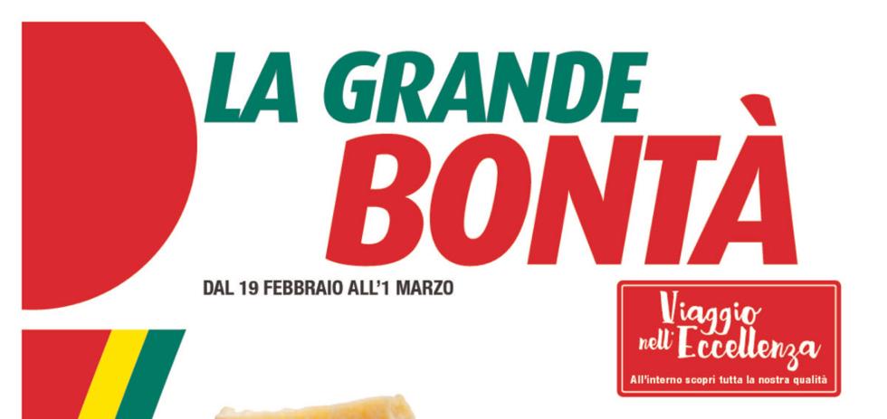 Volantino iper la grande bont dal 19 febbraio all 39 1 for Volantino iper conveniente