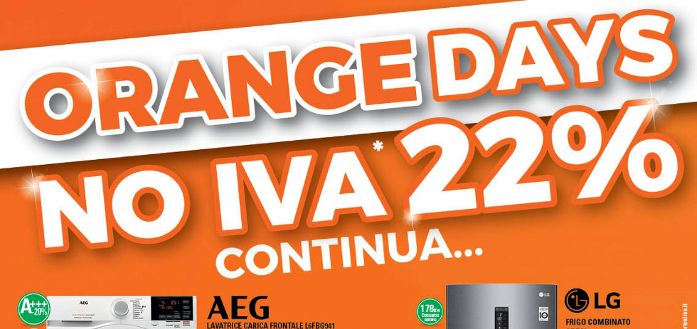Volantino expert di lella orange days no iva 22 dal 21 for Di lella expert volantino